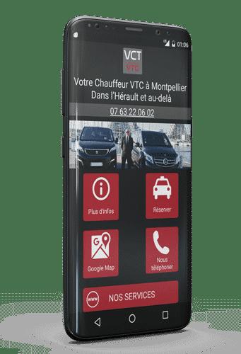 Votre chauffeur privé VTC à Montpellier sur Android